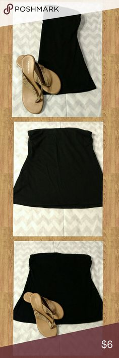 Black Tube Top Black Tube Top. Maurices brand. Pre-owned; worn 3-4 times/washed. Slightly faded from a couple washes. 100% Cotton. Discount available with bundle purchase. Maurices Tops