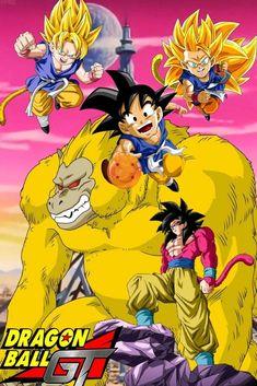 Son Goku Dragon Ball GT Dragon Ball Gt, Dragon Z, Manga Covers, Son Goku, Anime Characters, Animation, Cartoon, Comics, Illustration