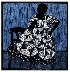 Julie Lapping Rivera, woodcut