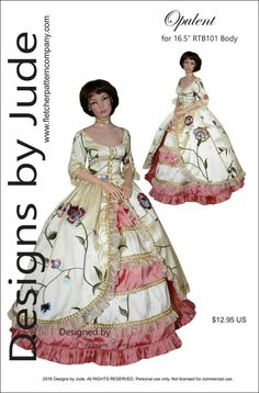 "Intuition Doll Clothes Sewing Pattern for 16/"" Curvaceous DeeAnna Tonner"