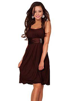 iprom-dresses.com - Prom Dresses Brown Straps Knee Length Chiffon ...
