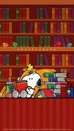 Cute #Snoopy #Reading Moments