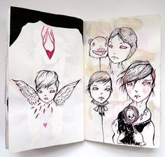 NIGHTMARE SKETCHBOOK by Liza Corbett, via Behance