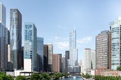 Chicago river  free high-resolution photo about Architecture and Cityscape Travel Locations architecture blue bridge building business Chicago city color downtown great illinois image kayak lake Michigan river sky skyline tower travel trump urban usa water