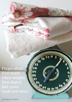 What fabric weight is best for your slipcover?  Here's a little advise.