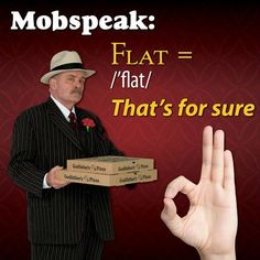 It's been a long day at work…ya dogs are barkin' and ya tired flat. So why don't ya pick up da ameche and order Godfather's Pizza to be delivered right to ya door! #mobspeakmonday #pizza #godfatherspizza