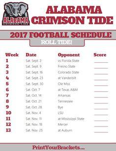 Printable Alabama Crimson Tide Football Schedule Alabama Crimson Tide Alabama Crimson Tide Schedule Alabama Crimson Tide Football