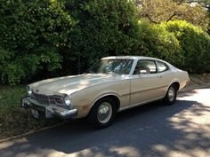 "1973 Mercury Comet 2 Door Coupe, Original Paint, No Rust Survivor Muscle car (This was my 2nd car, same beige color, but it was no muscle car. I was 18 when I bought it. When I told my aunt about it and that is was a manual shifter, she asked if it was 4-on-the-floor. ""No,"" sheepishly, ""3-on-the-column…"""