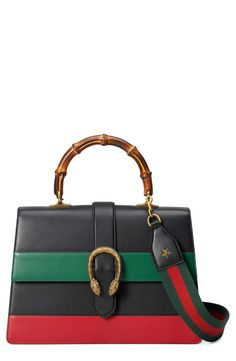 New Gucci Large Dionysus Top Handle Leather Shoulder Bag fashion online. [$3500]?@shop.seehandbags<<