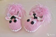 Новые вязаные пинетки для новорождённых Бабочки— фотография №2