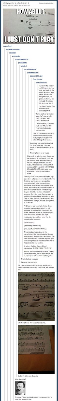 I was never in band, but this is hilarious