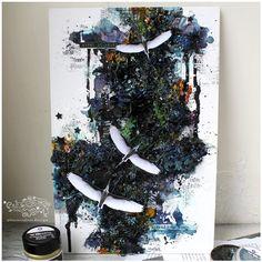 #finnabairproducts #mixedmedia #mixedmediaart #scrapbooking #canvas #миксмедиа