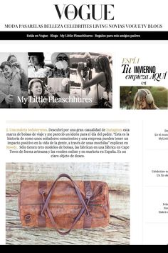 """We're proud to announce that today ROWDY Bags appeared on the Spanish Vogue, Vogue España! They featured our Corsica Duffel Bag as the ideal father's day gift. If you're wondering why it appeared in the Spanish Vogue it's because last year we branched out to Spain. We have an amazing spanish team, Rowdy Bags Spain, who are helping people PACK FOR CHANGE in Europe. Go to """"Visit Site"""" to check out the article."""