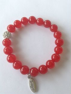 Red Love Bracelet by NailaSymoneJewelry on Etsy
