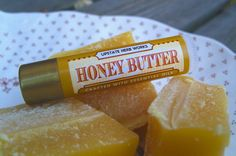 Honey Butter, Creamy Lip Balm with Upstate New York Honey & Beeswax, Extracts of Tahitian Vanilla and Butter, Meadowfoam Seed Oil Diy Body Scrub, Diy Lip Balm, Honey Butter, Spa Day, Seed Oil, Soap Making, The Balm, Lips, Herbs