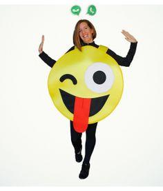 DISFRAZ DE EMOTICONO GUAY PARA ADULTOS Easy Homemade Costumes, Smileys, Party Emoji, Entertaining, Halloween, Disney Characters, Creative, Crafts, Garden