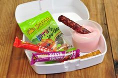 I found a great recipe for Yoghurt snack box
