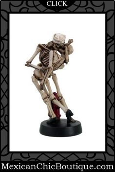Day of the Dead | Skeleton Figurines | Mexican Decorations | Mexican Art | Mexican Folk Art | Mexican Chic | Mexican Chic Boutique  ♥ Love Never Dies Skeleton Skull Sailor and American Nurse Kissing Statue Figurine $39.99