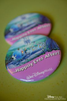 """""""...Happily Ever After"""" pins available at Walt Disney World Resort - If you go to Disney for your honeymoon, grab one of these at guest relations!"""
