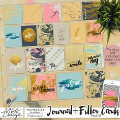 February {Journal- & Filler-Cards Set B}