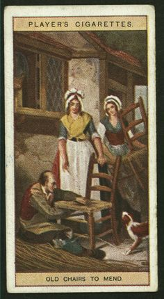 Old chairs to mend. From New York Public Library Digital Collections.