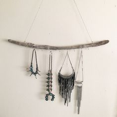 Large Driftwood Jewelry Hanger by RadicalSouls on Etsy
