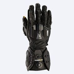 The Knox Handroid Gloves exoskeletal flexible finger spines cover the knuckles, fingers and thumb and give full unrestricted movement. The spines link to a c. Motorcycle Equipment, Motorcycle Gloves, Tactical Armor, Airsoft Helmet, Carapace, Tac Gear, Tactical Clothing, Armor Concept, Cool Gear