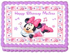 MINNIE MOUSE Edible image Cake topper Party decoration #KopykakeSheets