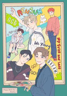 Kpop Drawings, Cute Drawings, Nct 127, Aesthetic Header, Meme Photo, Nct Dream Members, K Pop Star, Kpop Fanart, Art Inspo