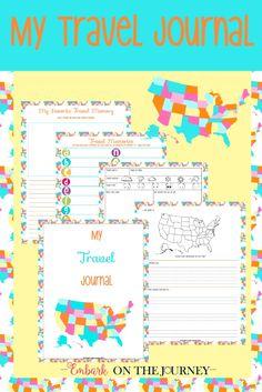 FREE Kids Travel Journal