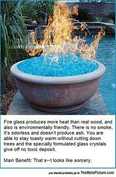 Cool fire without smoke
