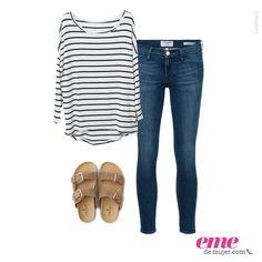 Las rayas no pasan de moda y menos con este sencillo #OutfitEme . Para saber más de moda y ser toda una fashionista entra en nuestra página web http://ve.emedemujer.com/moda/.