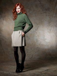 100% Cashmere Turtleneck Ribbing Sweater-Cashmere 1873.COM
