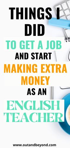 Learn what I did to start making extra money online as an english teacher! Make extra money teaching online while working remotely! Work from your couch and pay off debt with a high paying remote job! Online Teaching Jobs, Teaching English Online, Teaching Resources, Job Website, Job Work, Work From Home Jobs, Money Saving Tips, Extra Money, Debt