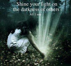 Shine your light. magic. feminine.