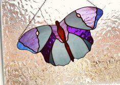 Vlinder Tiffany glas in lood raamhanger van gekleurd glas