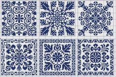 Cross-stitch Biscornu patterns... Square 60 | gancedo.eu