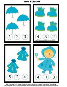 Summer Preschool Activities, Fall Preschool, Preschool Projects, Counting Activities, Preschool Math, Toddler Activities, Numbers Preschool, Preschool Printables, Kindergarten Worksheets