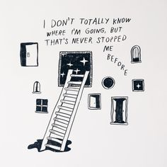visited @swissmiss and drew a little diary entry on the wall of...