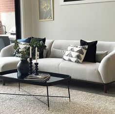 Create a modern living space using our super stylish and comfy sofa. Interior S, Interior Design, Comfy Sofa, Modern Living, Living Spaces, Furniture Design, Couch, Create, House Styles