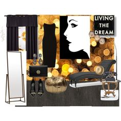 Luxury and Style by vonda-brooks on Polyvore featuring interior, interiors, interior design, home, home decor, interior decorating, Baxton Studio, nuLOOM, Dot & Bo and Adesso