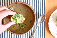 Cream of Mushroom Soup with cashew cream