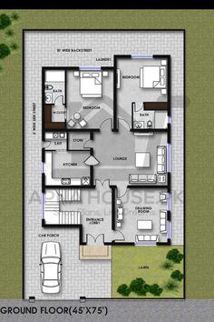 Duplex Floor Plans, House Floor Plans, Best House Plans, Modern House Plans, Home Design Plans, Plan Design, Kitchen Drawing, Architectural House Plans, House Map