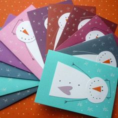 PAPER PIECING SNOWMEN - Natale
