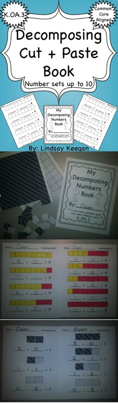 Decomposing Numbers Book - K.OA.3