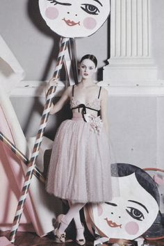 Lisa Cant wearing a bra and sweet Valentino beaded silk skirt ph by Tim Walker |