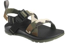 The Chaco Kid's Z/1 Ecotread sport sandal in camo becomes one with the forest quite easily. This is truly the ultimate, sporty sandal. The completely anatomically contoured footbed with nylon adjustab