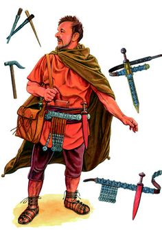 A Roman Legionary, his kit is based on reconstructions from Herculaneum. First century AD.
