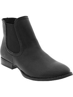 Women's Faux-Leather Ankle Boots | Old Navy
