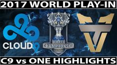 C9 vs ONE Highlights Worlds 2017 Play In | Cloud9 vs Team One Esports